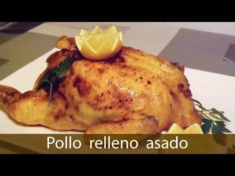 Pollo relleno al horno sin huesos - Receta para Navidad Low Cost, #200 - Cocina en video.com