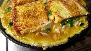 Bread Omelette Recipe Cooking in My Village | VILLAGE FOOD