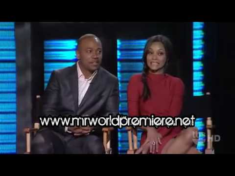 Zoe Saldana & Columbus Short - Lopez Tonight Interview