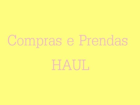 Compras/Haul | Video