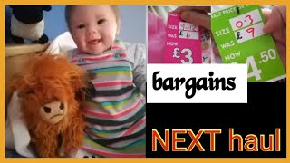 NEXT shopping HAUL with reborn baby doll Heidi