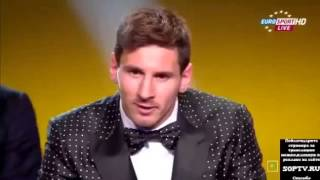 Lionel Messi Winner of Fifa Ballon d'Or 2014 (5th in row 2009,2010,2011,2012.2013).)