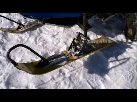 самодельный снегоход - подвеска управляемых лыж