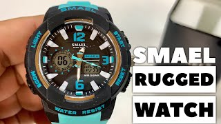 $17 38mm Dual Time Rugged Digital Sport Wrist Watch by SMAEL Review