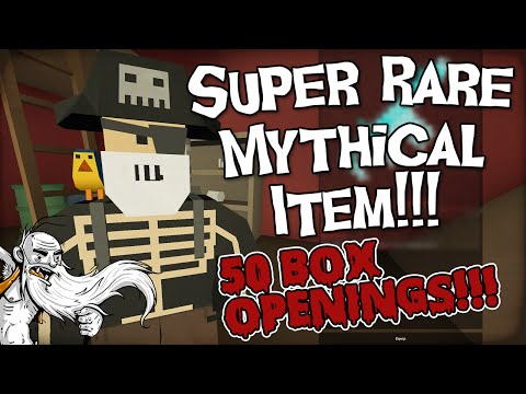 WE GOT A SUPER RARE MYTHICAL!!! - Unturned Mystery Box Opening (Box Unboxing? LOL)