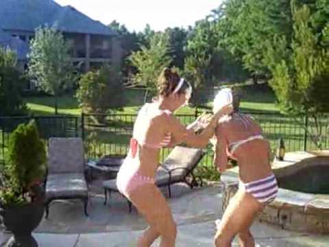 Girls in Bikinis Pie Each Other