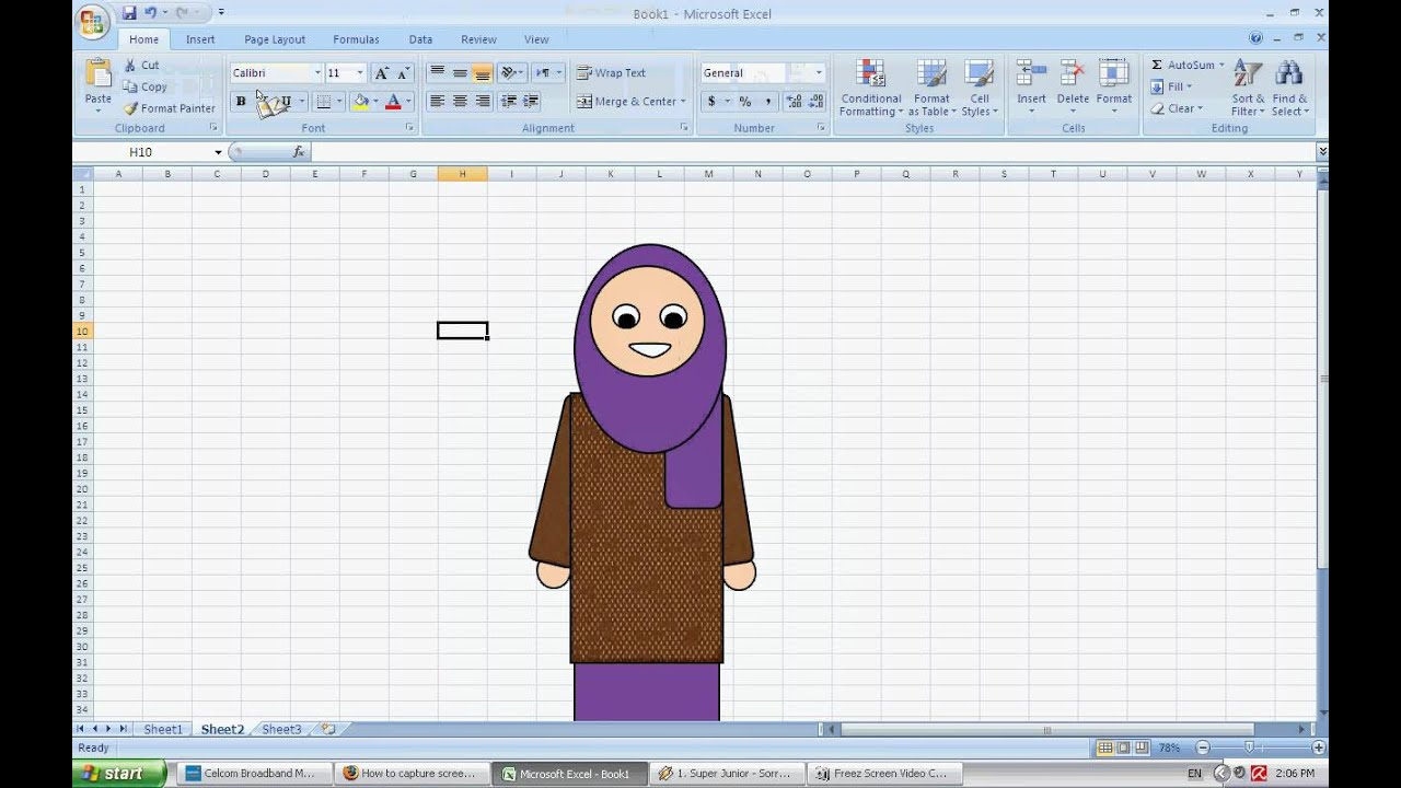 How To Draw Doodle Using Excel Youtube