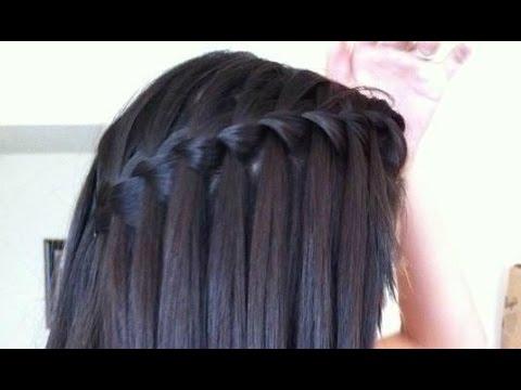 EASY Waterfall Braid Hair Tutorial : for STRAIGHT& CURLY HAIR