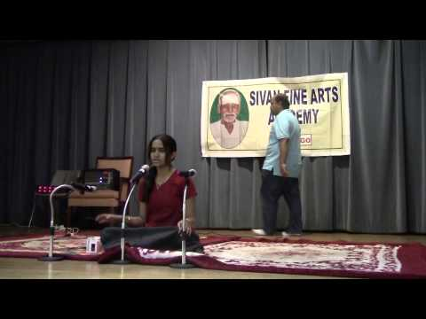 Deepu singing Tamil carnatic song - En Manam Oosalada (Papansam...