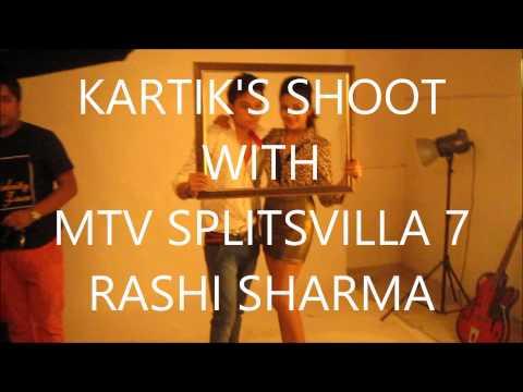 Celebrity Face Season 22nd Participant Kartik's Shoot with MTV Splitsvilla 7 Rashi Sharma