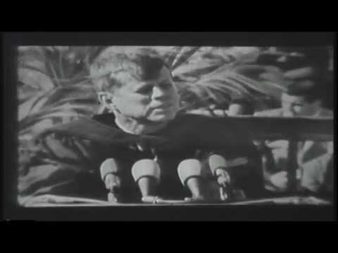 John F. Kennedy Speaks at Boston College in 1963