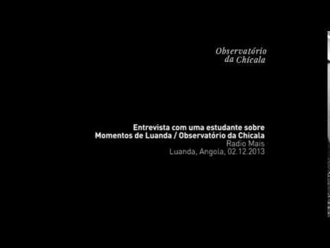 Radio Mais entrevista estudante angolana - 2013