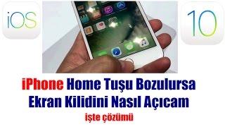 iPhone Home (Orta) Tuşu Bozuldu İOS 10+ İşte Çözümü