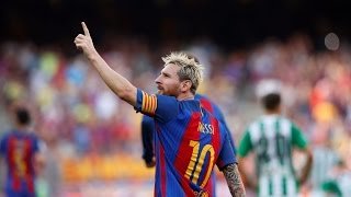 Lionel Messi scores hat trick in 7 0 thrashing of Celtic