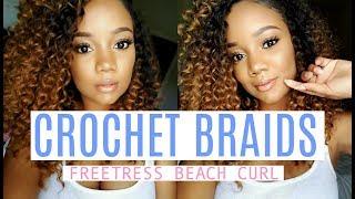 MY FIRST TIME......doing crochet braids! Freetress Beach Curl~ Samsbeauty