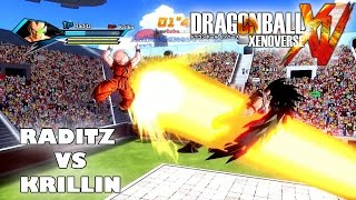 Dragon Ball Xenoverse Raditz vs Krillin Gameplay (PS4 Local Multiplayer Gameplay)