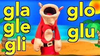 Sílabas gla gle gli glo glu - El Mono Sílabo - Canciones infantiles