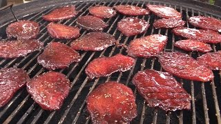 How To Make Bourbon Beef Jerky on Weber Smokey Mountain