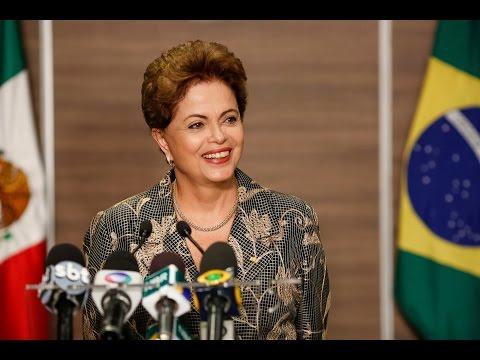 Coletiva de imprensa com a presidenta Dilma Rousseff no México