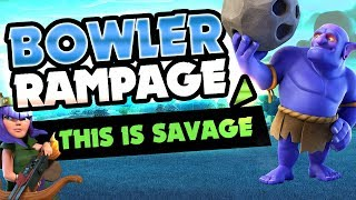BOWLER RAMPAGE! BEST STRATEGY FOR TOWNHALL 11 RING BASES