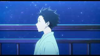 Koe no Katachi A Silent Voice ending scene on the bridge