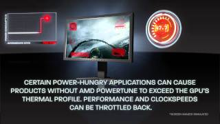 Get higher clocks and faster gaming with AMD PowerTune technology.
