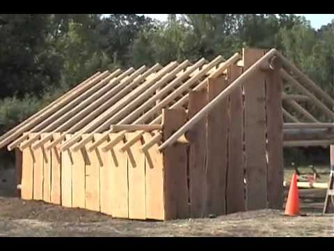 Building A Native American Plank House Youtube