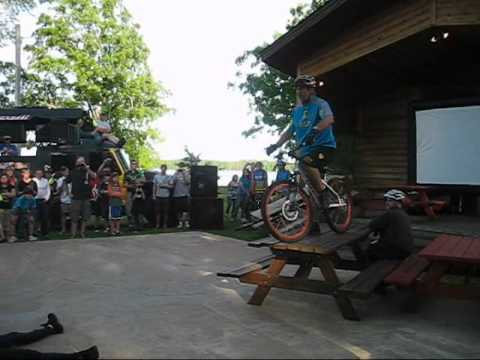 Hans Rey Bike Trials, Cuyuna 2011, Crosby MN, Bike Trials