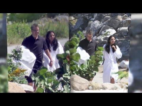 Matt Damon Tells Why He Renewed Wedding Vows - Splash News