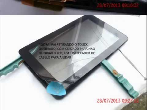 COMO TROCAR TELA TOUCH SCREEN DO TABLET CCE TR71