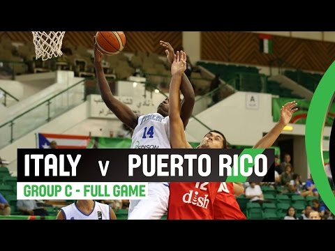 Italy v Puerto Rico - Group C Full Game - 2014 FIBA U17 World Championship