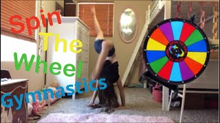 Spin the wheel gymnastics challenge