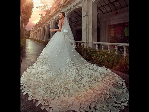 9c85fd64713 Top 50 Latest Most Beautiful Wedding Bridal Dresses In The World 2017