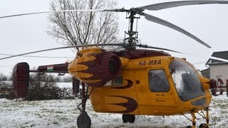 Kamov Ka-26 (HA-MRA) test flight with passanger cabin
