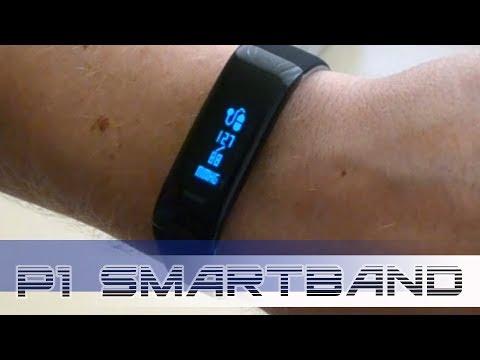 P1 SmartBand. Обзор фитнес браслета измеряющего давление. Проверка тонометром.
