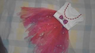 no sew diy party dress for kids فستان حفلات للاطفال