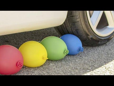 Crushing Crunchy & Soft Things by Car!  - EXPERIMENT: TOYS VS CAR - ASMR