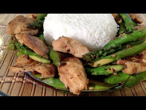 How To Make Chicken Asparagus Stir Fry-Asian Food Recipes