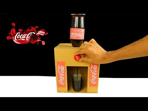 How to Make Coca Cola Fountain Machine from Cardboard at Home