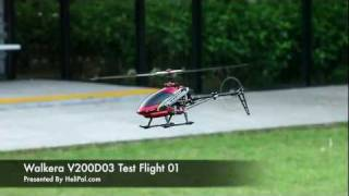 HeliPal.com - Walkera HM V200D03 Helicopter Test Flight 01