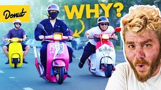 The Bizarre Japanese Scooter Gang You Never Knew Existed | Bumper 2 Bumper