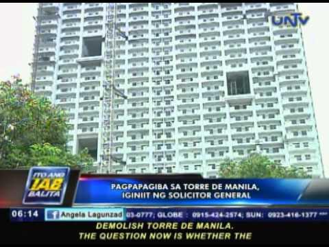 Pagpapagiba sa Torre de Manila, iginiit ng solicitor general
