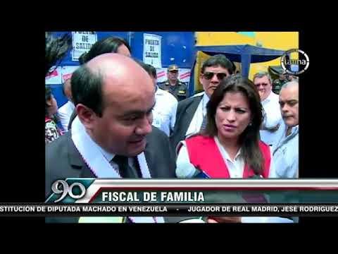 Ministra de la Mujer visita a niño atrincherado en La Parada