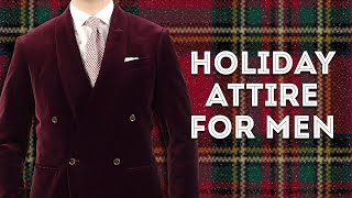Holiday Attire for Men: What It Means & How to Wear It