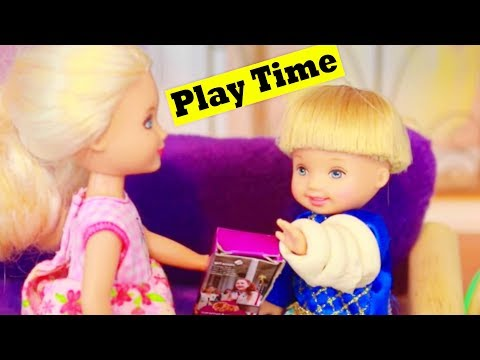 Frozen Toby Broken Arm Part 2 AllToyCollector Play-Doh Disney Princess Anna & Kristoff Barbie Toys