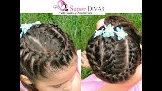 Peinado Infantil - Trenza y Corona | Braid with crown for little girls