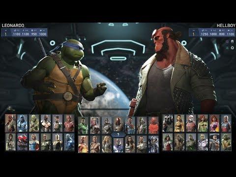 Injustice 2 - Todos los ataques especiales de los personajes + DLC (1080p 60fps)