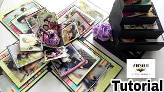Birthday Card For Best Friend||6 Layers Birthday Box ||Full Step by step ||