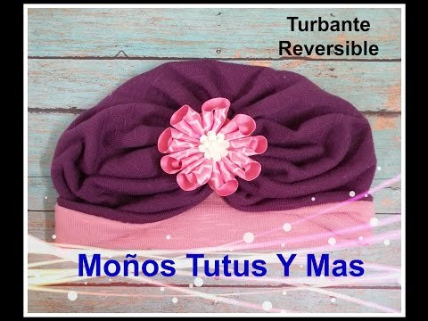 TURBANTE REVERSIBLE Paso a Paso REVERSIBLE TURBAN Tutorial DIY How To PAP