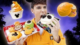 i only ate DISNEYLAND HALLOWEEN foods for 24 hours in JAPAN